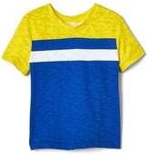 Gap Colorblock V-neck slub tee