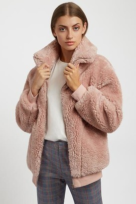 Louche Woody Pale Pink Fluffy Jacket - 12