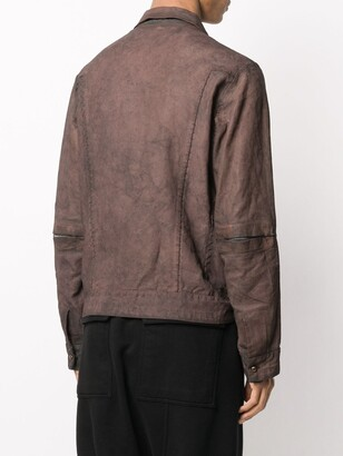 Isaac Sellam Experience Refractaire linen shirt jacket