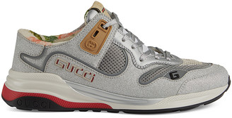Gucci G Line Sneakers in Silver | FWRD