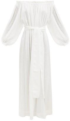 Kalita Pegasi Off-the-shoulder Cotton-gauze Dress - White