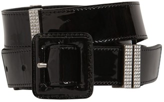 Saint Laurent 20mm Patent Leather & Crystal Belt