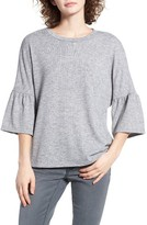 WAYF Women's Ruffle Elbow Sleeve Top