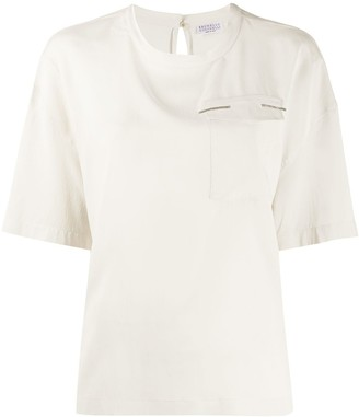 Brunello Cucinelli Chest Pocket Blouse