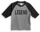 Urban Smalls Gray & Charcoal 'Legend' Raglan Tee - Toddler & Boys