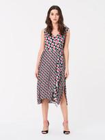 Diane von Furstenberg Tenley Georgette-Blend Faux-Wrap Dress