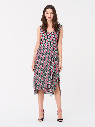 Diane von Furstenberg Tenley Georgette-Blend Faux-Wrap Dress