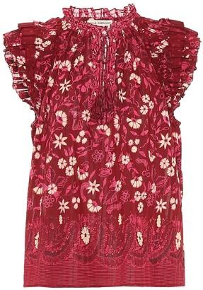 Ulla Johnson Iris floral cotton top