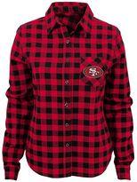 Juniors' San Francisco 49ers Buffalo Plaid Flannel Shirt