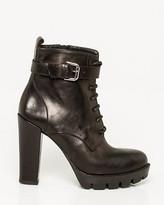 Le Château Italian-Made Leather Lug Sole Ankle Boot