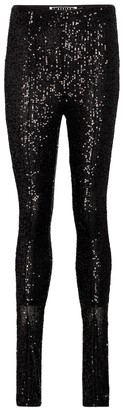 Rotate by Birger Christensen Alicia sequined leggings