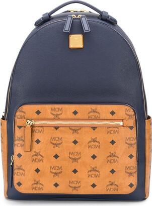 MCM Logo Print Panelled Backpack