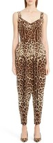 Dolce & Gabbana Women's Leopard Print Stretch Cady Jumpsuit