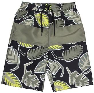 Stella McCartney Leaf-printed swim shorts