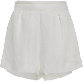 Anemos The Linen-Blend Short Shorts