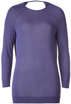 Halston Sweet Lavender Deep Cowl-Neck Back Top