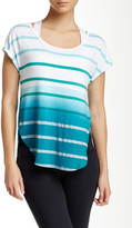 Pink Lotus Caution Scoop Neck Striped Top