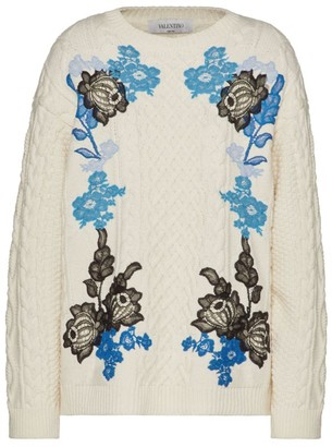 Valentino Floral Lace Sweater