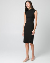 Le Château Textured Knit Mock Neck Dress