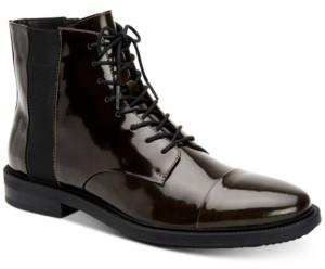 Calvin Klein Men's Cronus Patent Leather Boots Men's Shoes