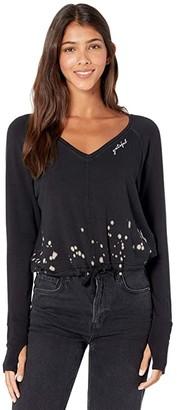 good hYOUman Jade Grateful Pullover (Black Splatter) Women's Clothing