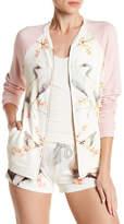 PJ Salvage Swan Knit Zip-Up Jacket