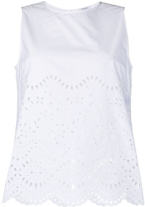 P.A.R.O.S.H. Embroidered Sleeveless Blouse
