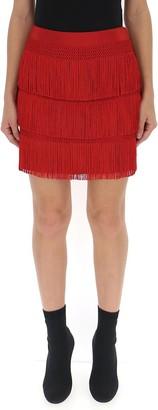 Alberta Ferretti Fringed Mini Skirt