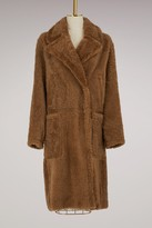 Yves Salomon Merinos and lamb leather long coat