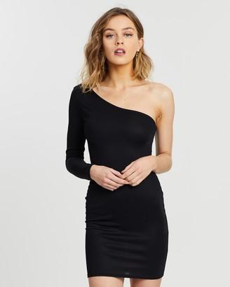 Missguided One Sleeve Mini Dress