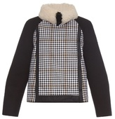 Moncler Gamme Rouge Shearling-collar wool jacket