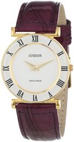Jowissa Women's J2.034.M Roma Colori 30mm Gold PVD Purple Leather Roman Numeral Watch