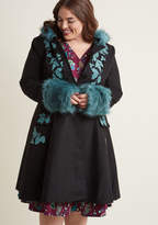 Hell Bunny Northern Glory Fit and Flare Coat in L - Long by Hell Bunny from ModCloth