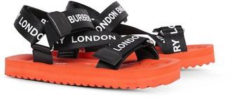 BURBERRY KIDS Logo Printed Sandals