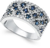 Macy's Sapphire (1-3/4 ct. t.w.) and Diamond (1/3 ct. t.w.) Band in 14k White Gold