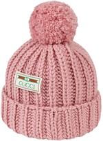 Gucci logo patch knit beanie