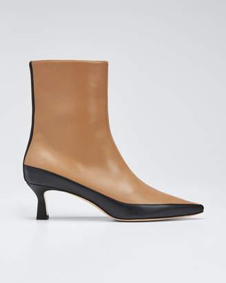 Wandler Bente Two-Tone Leather Booties