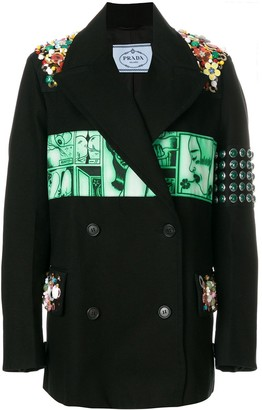 Prada Logo Patch Blazer
