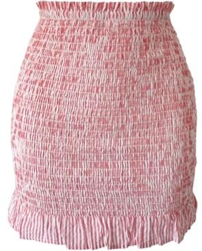 BCBGeneration Cotton Seersucker Mini Skirt