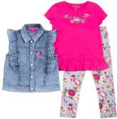 Betsey Johnson Girls' 3Pc Vest Set