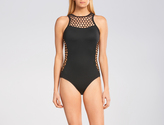 Seafolly Active Mesh High Neck Maillot