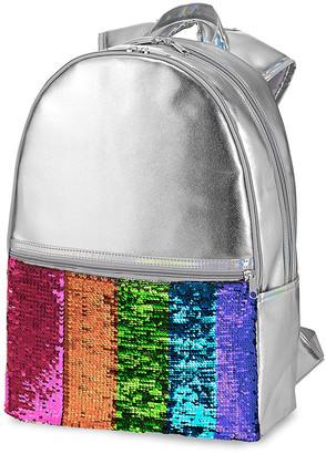 Hot Stuff Girls' Backpacks - Metallic Purple Reversible Sequin Backpack