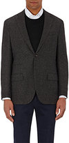 Luciano Barbera MEN'S TWEED TWO-BUTTON SPORTCOAT-BROWN SIZE 42