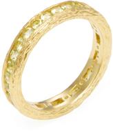 Elizabeth Showers Women's 18K Yellow Gold & Peridot Birch Channel Stack Ring