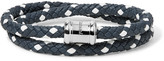 Miansai - Double Casing Woven Leather Stainless Steel Bracelet