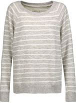 Current/Elliott The Perfect Striped Cotton-Blend Sweatshirt