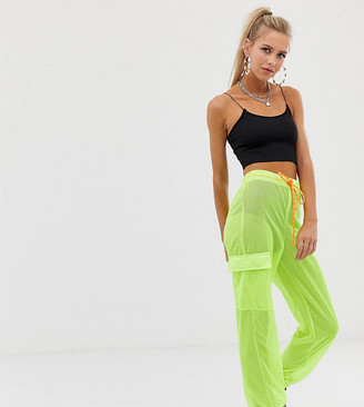 Reclaimed Vintage inspired jogger in neon mesh