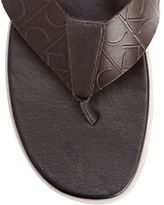 Calvin Klein Embossed Leather Sandals