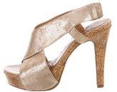 Diane von Furstenberg Nubuck Platform Sandals