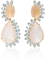 Bounkit Rose and Blue Quartz Two-Way Earrings